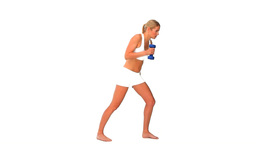 Blond woman working out Stock Video Footage