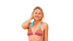Good looking woman in swimsuit Stock Video Footage
