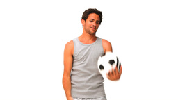 Man playing with a soccer ball Footage