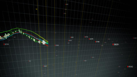 Falling stock index loop fronted Stock Video Footage
