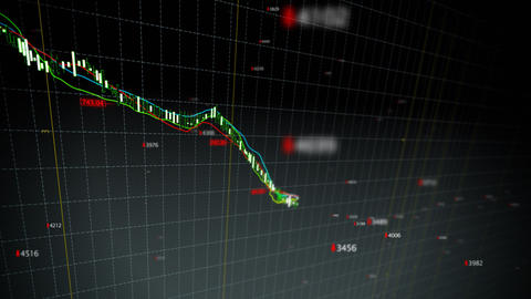 Falling stock index loop fronted Animation