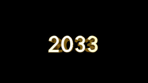 Year 2033 a HD Stock Video Footage