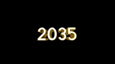 Year 2035 a HD Stock Video Footage
