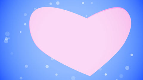 Valentines Day Heart. Loop. Matte Animation
