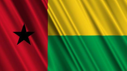 BissauGuineaFlagLoop01 Stock Video Footage
