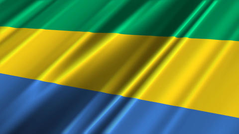 GabonFlagLoop02 Stock Video Footage