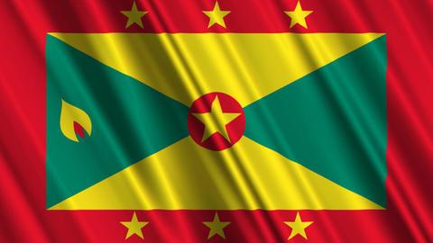 GrenadaFlagLoop01 Stock Video Footage