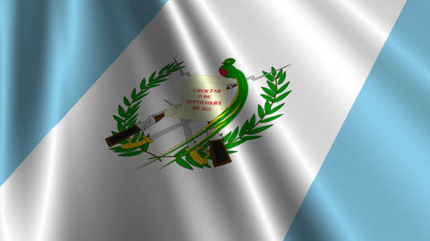 GuatemalaFlagLoop03 Stock Video Footage