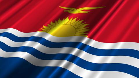 KiribatiFlagLoop02 Stock Video Footage