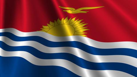 KiribatiFlagLoop03 Stock Video Footage