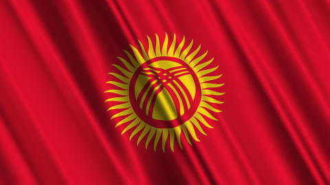 KyrgyzstanFlagLoop01 Animation