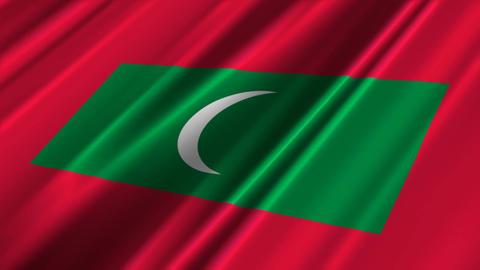 MaldivesFlagLoop02 Stock Video Footage