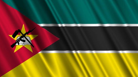 MozambiqueFlagLoop01 Stock Video Footage