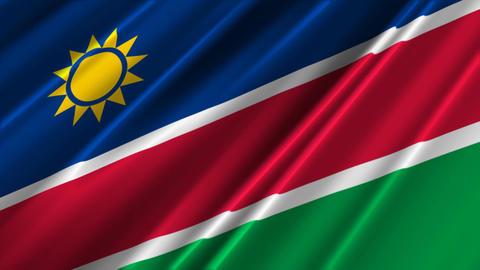 NamibiaFlagLoop02 Stock Video Footage
