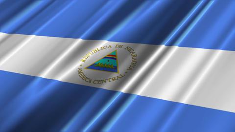 NicaraguaFlagLoop02 Stock Video Footage