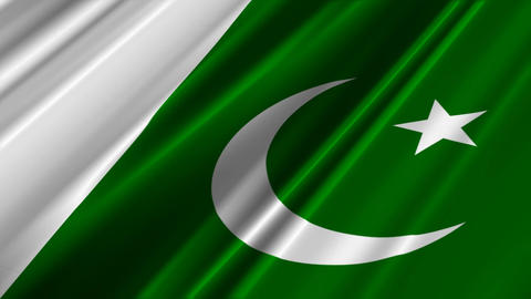 PakistanFlagLoop02 Stock Video Footage