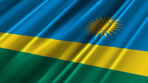 RwandaFlagLoop02 Stock Video Footage