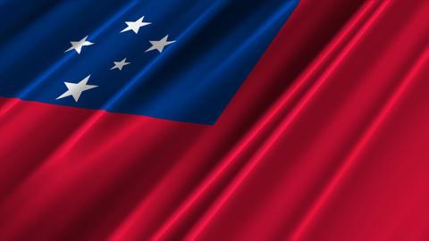 SamoaFlagLoop02 Stock Video Footage