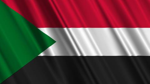 SudanFlagLoop01 Stock Video Footage