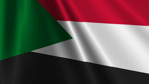 SudanFlagLoop03 Stock Video Footage