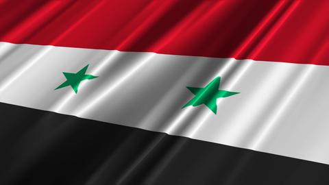 SyriaFlagLoop02 Stock Video Footage