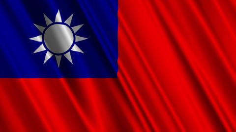 TaiwanFlagLoop01 Stock Video Footage