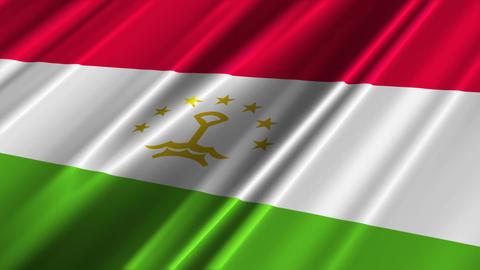 TajikistanFlagLoop02 Stock Video Footage