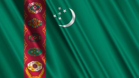 TurkmenistanFlagLoop01 Stock Video Footage