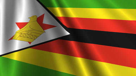 ZimbabweFlagLoop03 Stock Video Footage