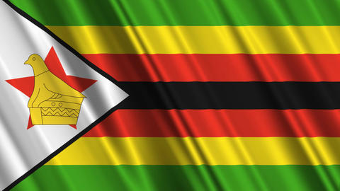 ZimbabweFlagLoop01 Stock Video Footage