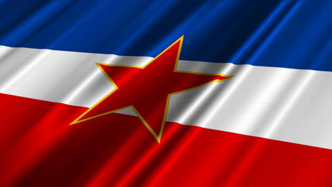 YugoslaviaFlagLoop02 Stock Video Footage