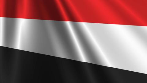 YemenFlagLoop03 Stock Video Footage