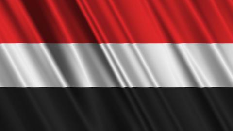 YemenFlagLoop01 Stock Video Footage