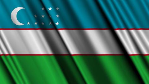 UzbekistanFlagLoop01 Animation