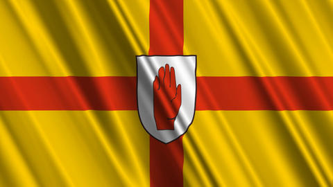 Ulster9ProvinceNorthernIrelandFlagLoop01 Animation