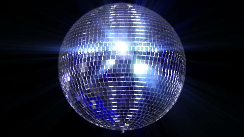 disco mirror ball center wide Stock Video Footage