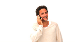 Casual man speaking on the phone Stock Video Footage