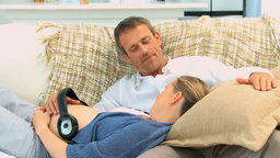 Future Parents Having A Rest stock footage