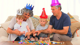 Family on Birthday Footage