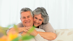 Smiling mature couple Stock Video Footage