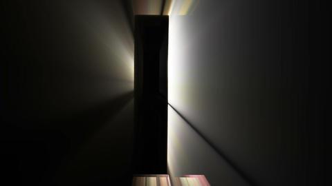 Closed Glowing Door Of Opportunity / Heaven stock footage