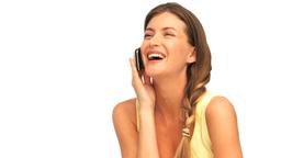 Beautiful woman phoning Stock Video Footage