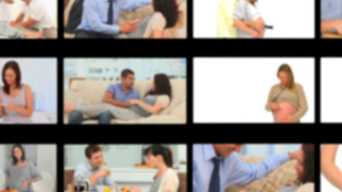 Montage of pregnant women Stock Video Footage