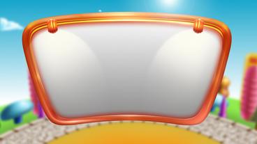 Cartoon Fan Header Background Loop Video Material stock footage