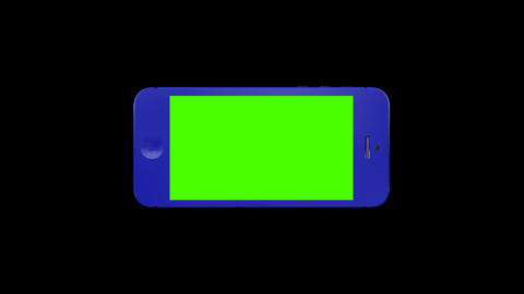 0539 3 D iphone Blue , Green Screen and Alpha Footage