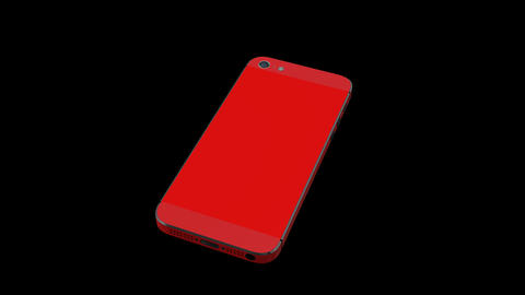 RED Smart Phone Animation with Green Screen and Al Stock Video Footage