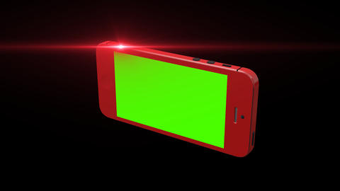 RED Smart Phone Animation with Green Screen and Al Footage