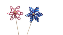 Pinwheels for children Stock Video Footage
