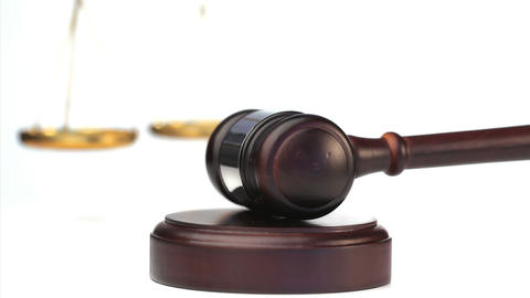 Gavel In Action stock footage