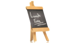 Phrase Lunch Time written on a blackboard Stock Video Footage